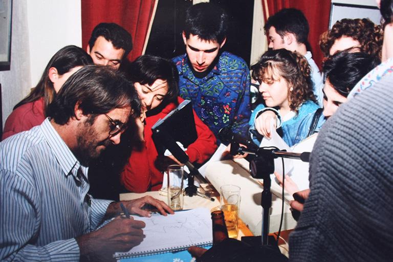 Eduardo Aute en el Ateneo de Málaga, principios de los 90