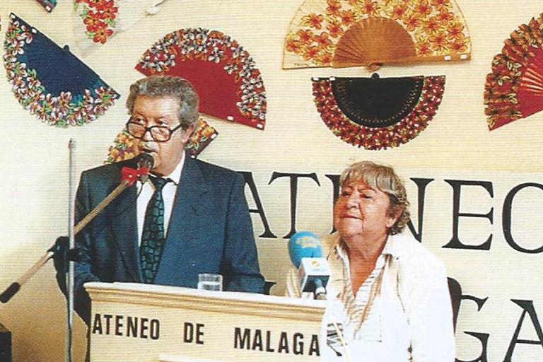 Manuel Alcántara y Gloria Fuertes